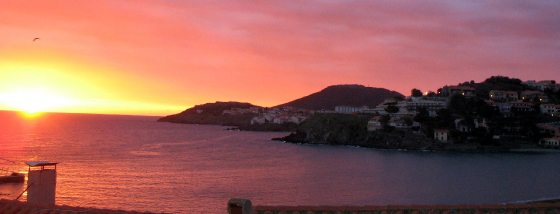 sunrise from the terrace - Prud'Homie Collioure